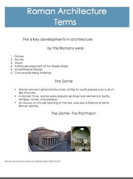 Architecture- Roman Architecture Terms Handou