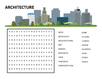 Architecture Word Search
