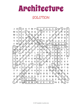 Architecture Word Search Puzzle