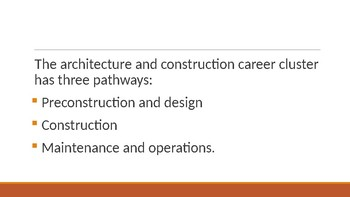 Architecture and Construction Career Cluster PPT