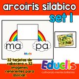 Arcoíris silábico. Set 1.