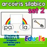 Arcoíris silábico. Set 2