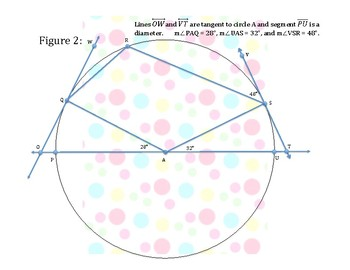 Arcs & Angles in Circles Practice Activity