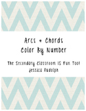 Arcs & Chords - Color By Number