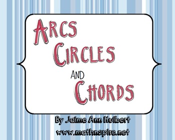 Arcs, Circles & Chords ~ Review Puzzle