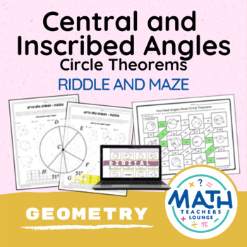 Geometry Circle Theorems: Arcs and Angles - Puzzle Worksheet