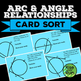 Arcs and Angles in Circles Task Card Sort