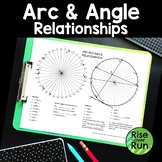 Arcs and Angles in Circles Worksheet