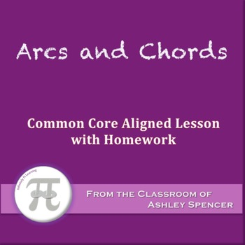 Arcs and Chords (Lesson with Homework)