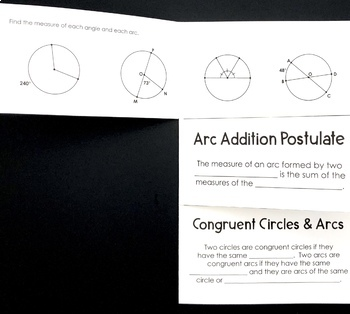 Arcs in Circles Foldable