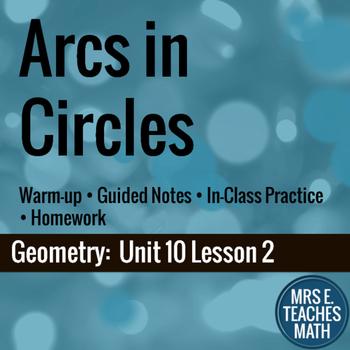 Arcs in Circles Lesson