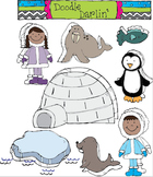 Arctic Adventures COMBO Clipart Set