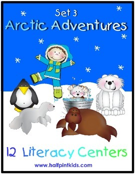 Arctic Adventures Literacy Centers: Half-Pint Readers Set 3