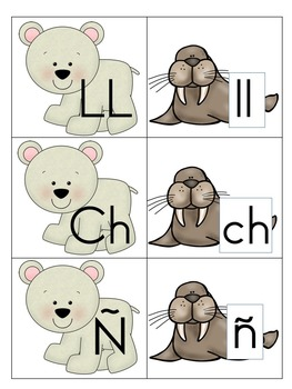 Arctic Alphabet Match Game