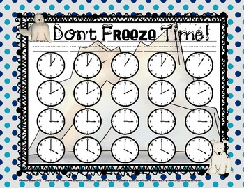 Arctic Analogs: Activities to Practice Telling Time to the Quarter Hour