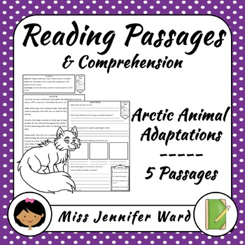 Arctic Animal Adaptations Reading Passages