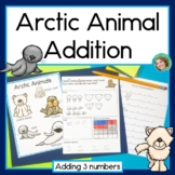 Arctic Animal Addition, word problems with 3 addends