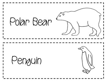 Arctic Animal Cards with Facts