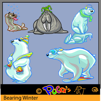 Arctic Animal Clip Art