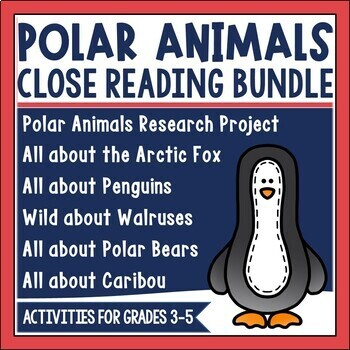 These close reading sets include before, during and after materials to address schema, vocabulary, text dependent questioning, and application of what students learn for each animal. They work very well for small group guided reading or for differentiated group research. Students read for a different purpose each day and have a new article for annotation and marking. Students can begin with the close reading set for an assigned animal and continue researching to complete the paper bag mini book as a culminating activity.