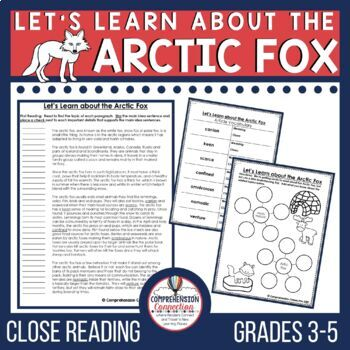 Polar Animal Close Reading Bundle