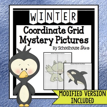 Winter Coordinate Graphing Mystery Pictures (5th - 9th)