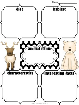Arctic Animal Expository Writing Set
