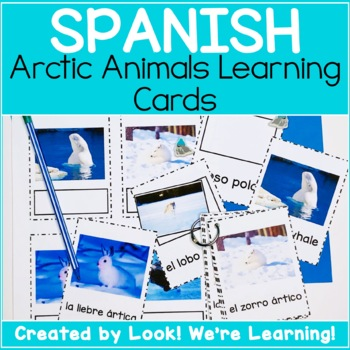 English and Spanish Flashcards - Arctic Animals!