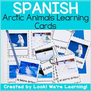 English and Spanish Flashcards - Arctic Animals!