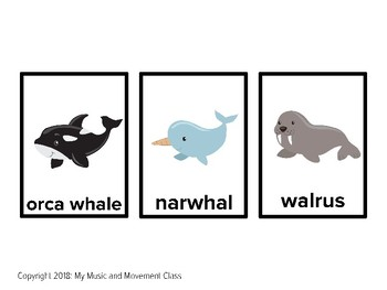 Arctic Animal Go Fish or Memory Card Game, Preschool Winter, Kindergarten Winter