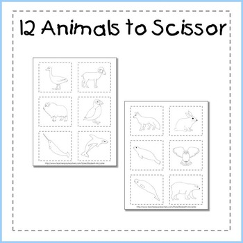 Arctic Animal I Can Cut & Glue Booklet FREEBIE