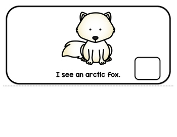 "Arctic Animal Interactive Adaptive books - set of 2 (""I See and ""How Many?)"