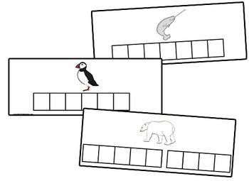 Arctic Animal Letter Tile Cards