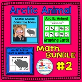 Arctic Animal Math Bundle #2 - Three Math Centers for Early Learners