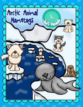 Arctic Animal Name Tags EDITABLE