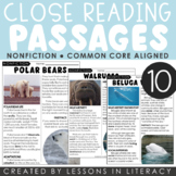 Arctic Animals Close Reading