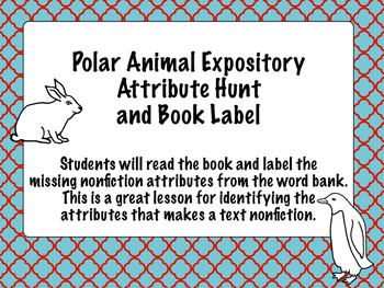 Arctic Animal Nonfiction Attribute Book Hunt