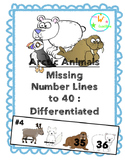 Arctic Animal Number Lines to 40
