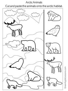 Arctic Animals Worksheet | Matching