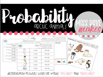 Arctic Animal Probability Printables