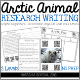 Arctic Animal Research Writing (Graphic Organizers, QR Codes and More)