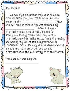 Arctic Animal Research Writing Report