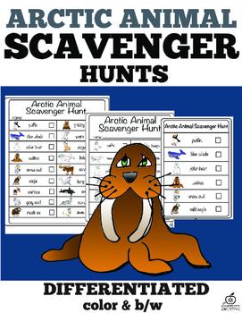 Arctic Animal Literacy Center and Arctic Animal Scavenger Hunt