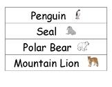 Arctic Animal Vocab Words