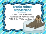 Arctic Animal Wonderland w Penguins, Seals, Walrus', Polar Bears SMARTboard