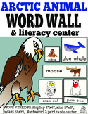Arctic Animal Word Wall and Literacy Center