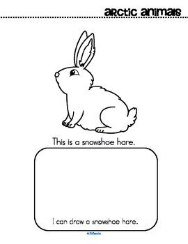 Arctic Animals Activity Printables - Read, Color and Draw - Make a Book