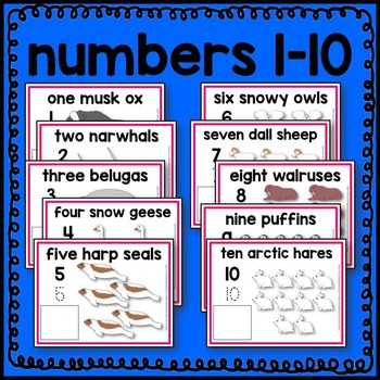 Arctic Animal Count and Write Mats