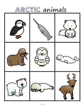 Arctic Animals Bingo for Preschool and Pre-K