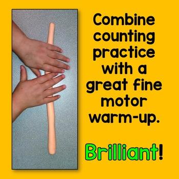 Arctic Animal Play-Doh Counting Mats